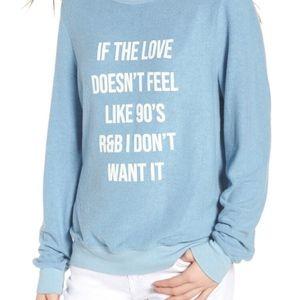 NWT Wildfox '90s love' sweatshirt - size Medium